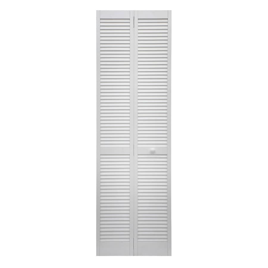 Shop Reliabilt White Solid Core Pine Bi Fold Closet