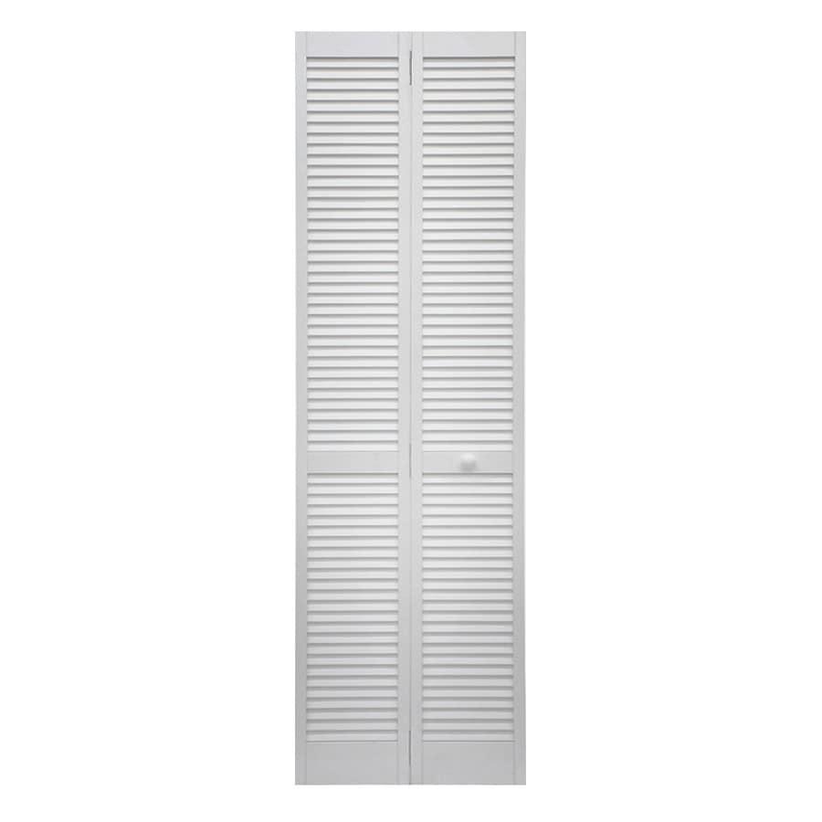 Shop reliabilt white solid core pine bi fold closet interior door reliabilt white solid core pine bi fold closet interior door with hardware common planetlyrics Gallery