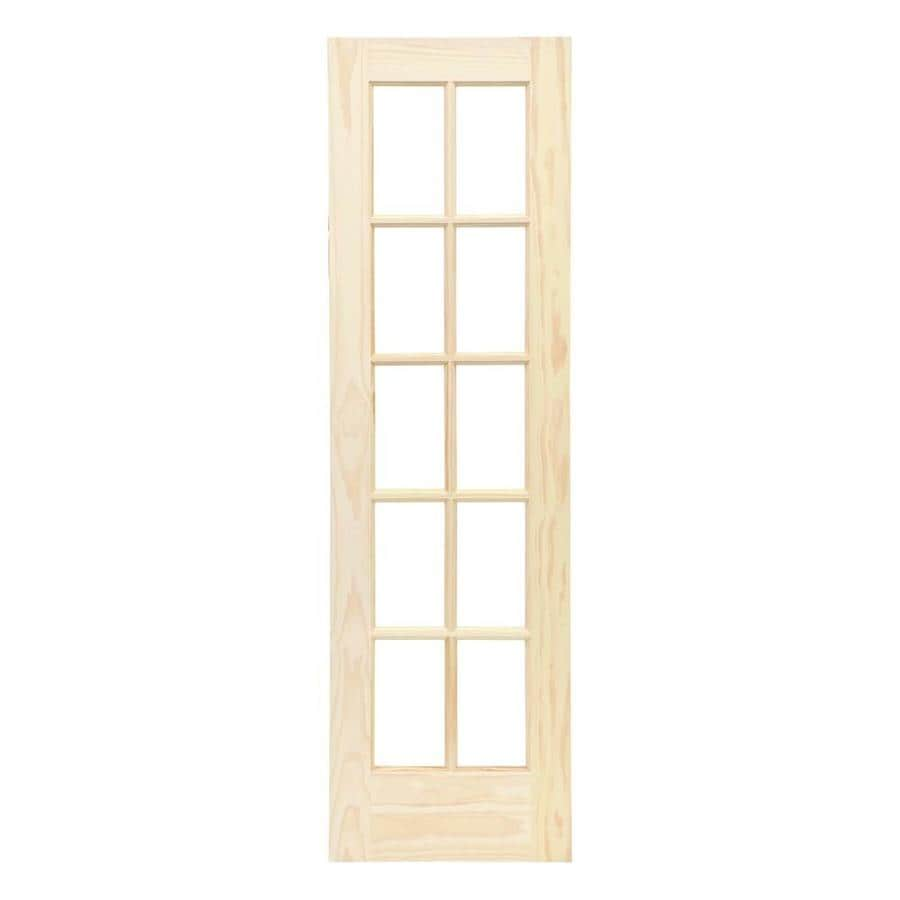 Ordinaire ReliaBilt Wood Solid Core Clear Glass Pine French Door (Common: 24 In X
