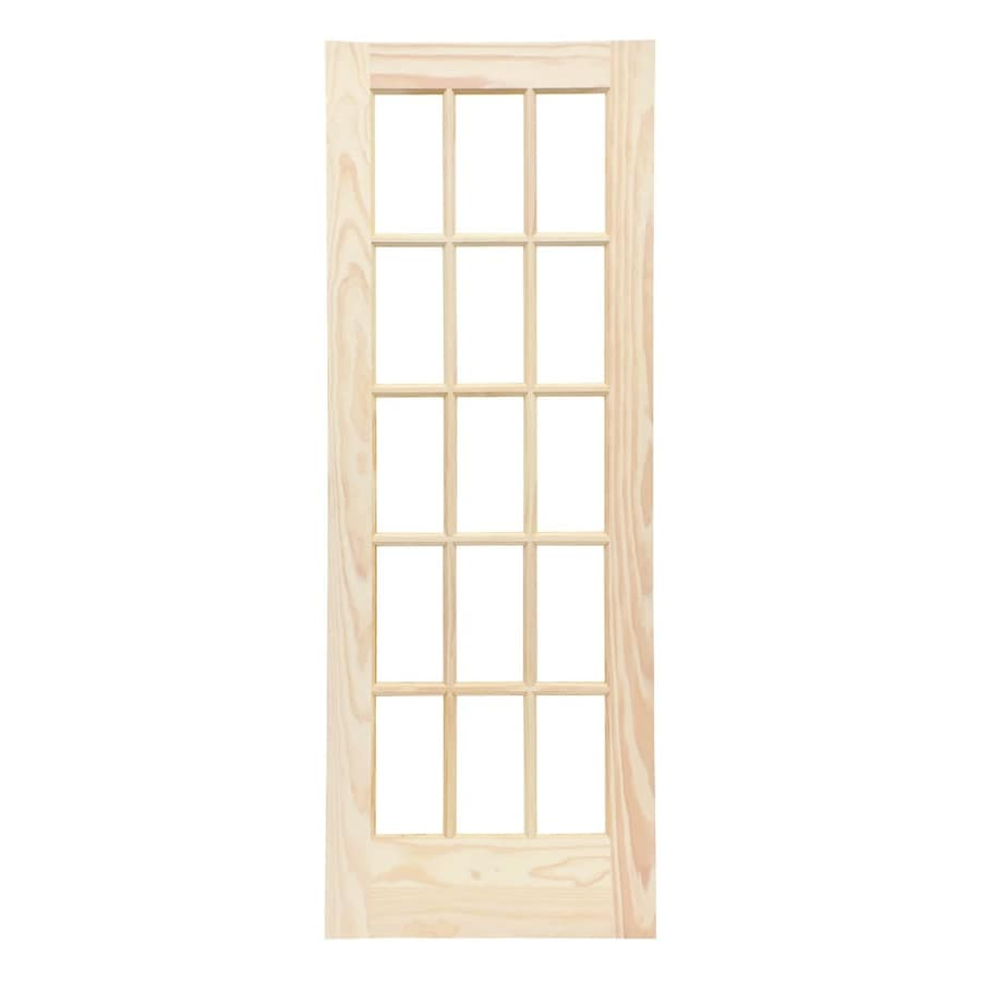 Reliabilt Clear Solid Core Gl Wood Pine French Door Common 36 In X 80 Actual