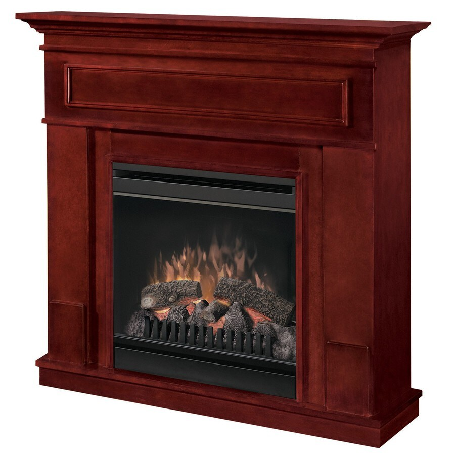 Shop Electralog 40-in W 4,915-BTU Cherry Wood and Metal ...