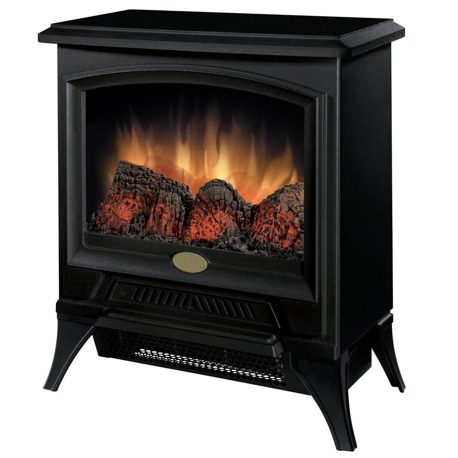 Electralog 17.8-in W 5,120-BTU Black Wood and Metal Wall-Mount Electric Stove