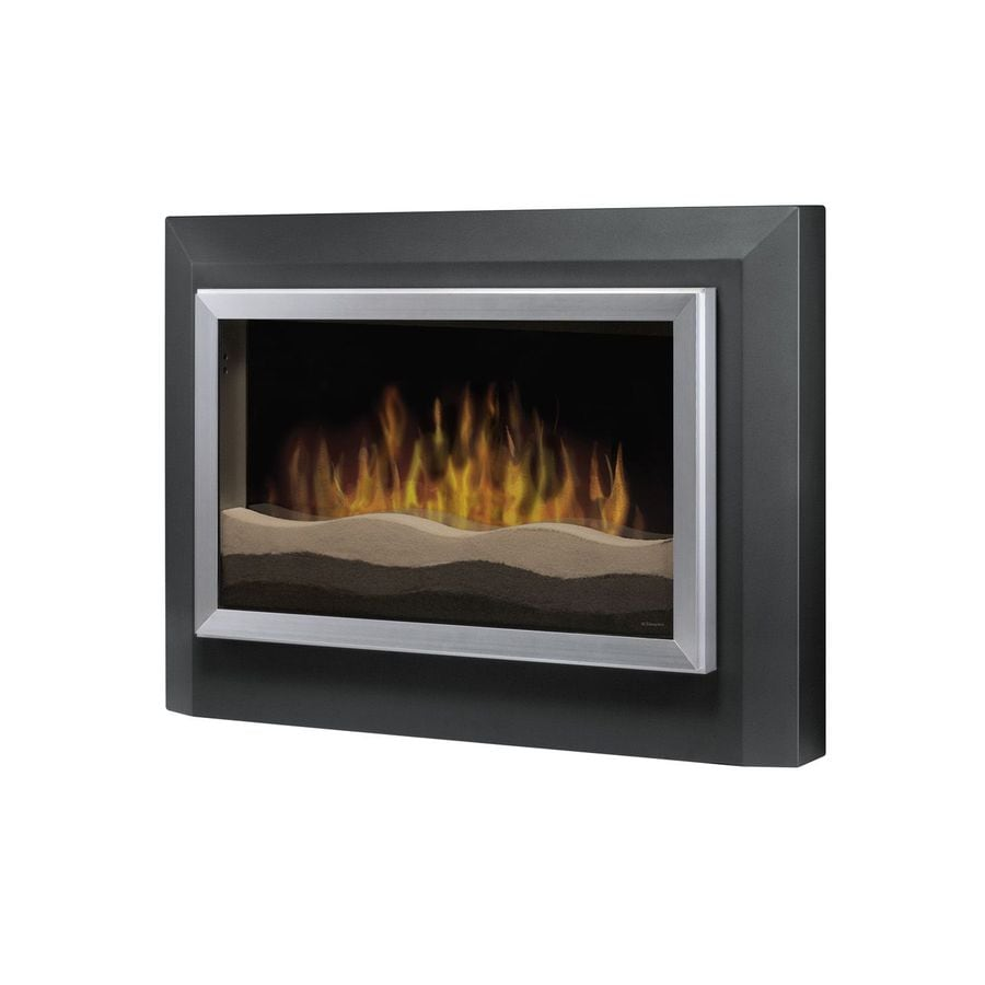 Dimplex 39.5-in W 4,780-BTU Dark Grey Metal Wall-Mount Electric Fireplace with Thermostat and Remote Control