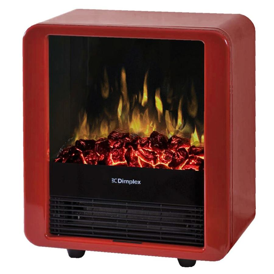 Dimplex 13-in W 4,674-BTU Gloss Red Wood and Metal Fan-Forced Electric Stove