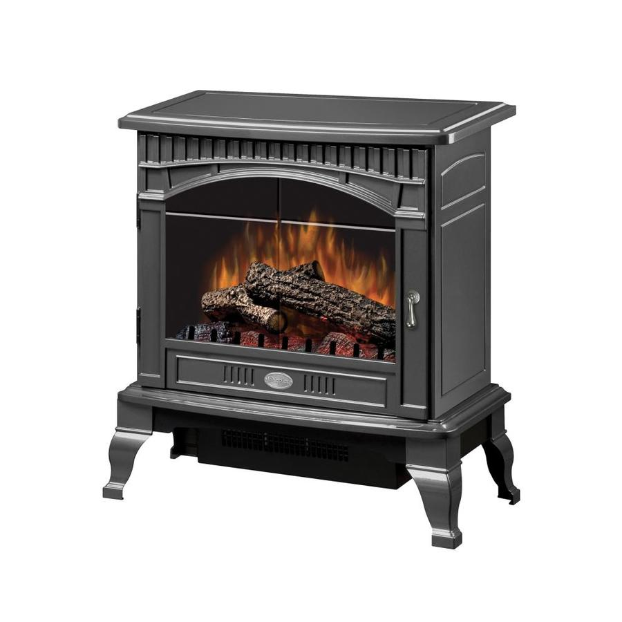 Dimplex 25-in W 4,915-BTU Pewter Wood Fan-Forced Electric Stove with Remote Control