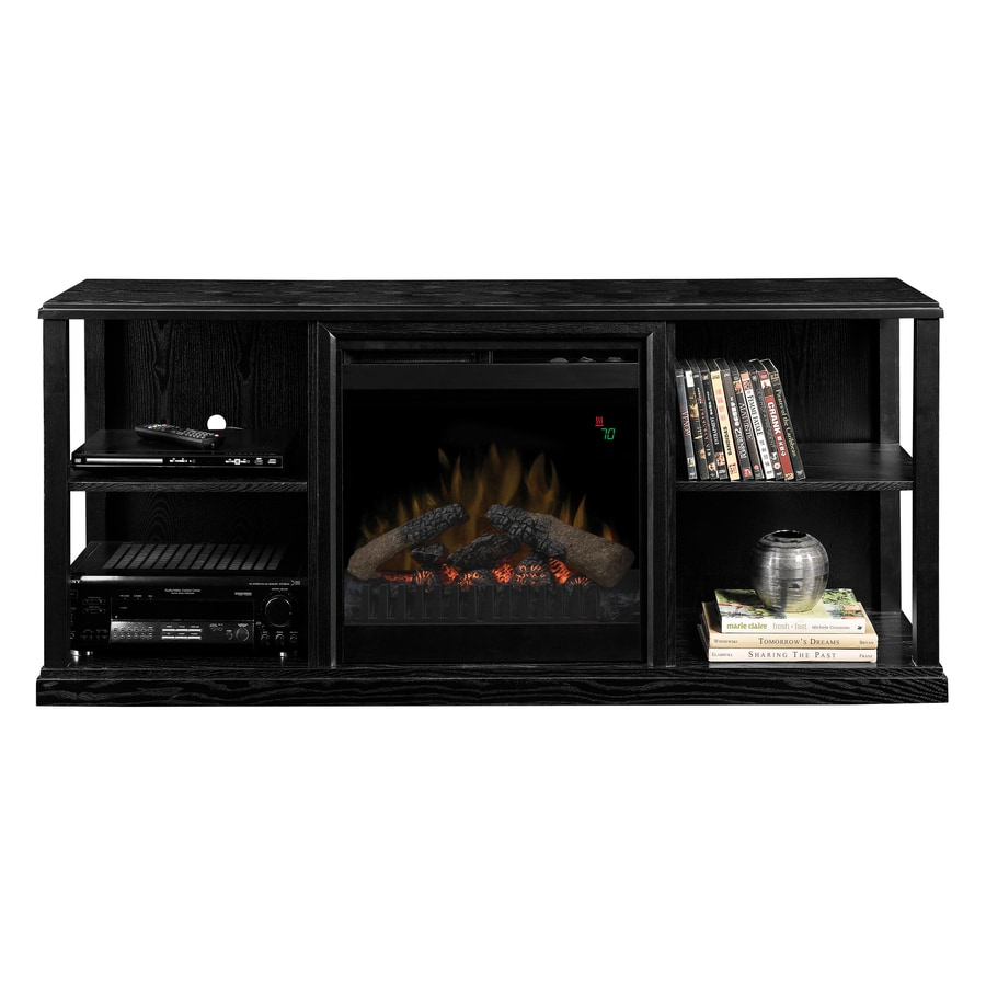 Dimplex 60.5-in W 5,120-BTU Black Wood Veneer Fan-Forced Electric Fireplace with Thermostat and Remote Control