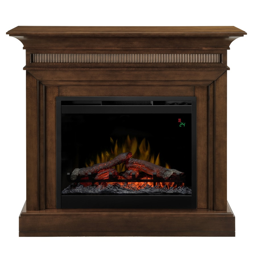 Fireplace Doesnt Heat: Shop Dimplex 44-in W 4,777-BTU Walnut Wood Fan-Forced