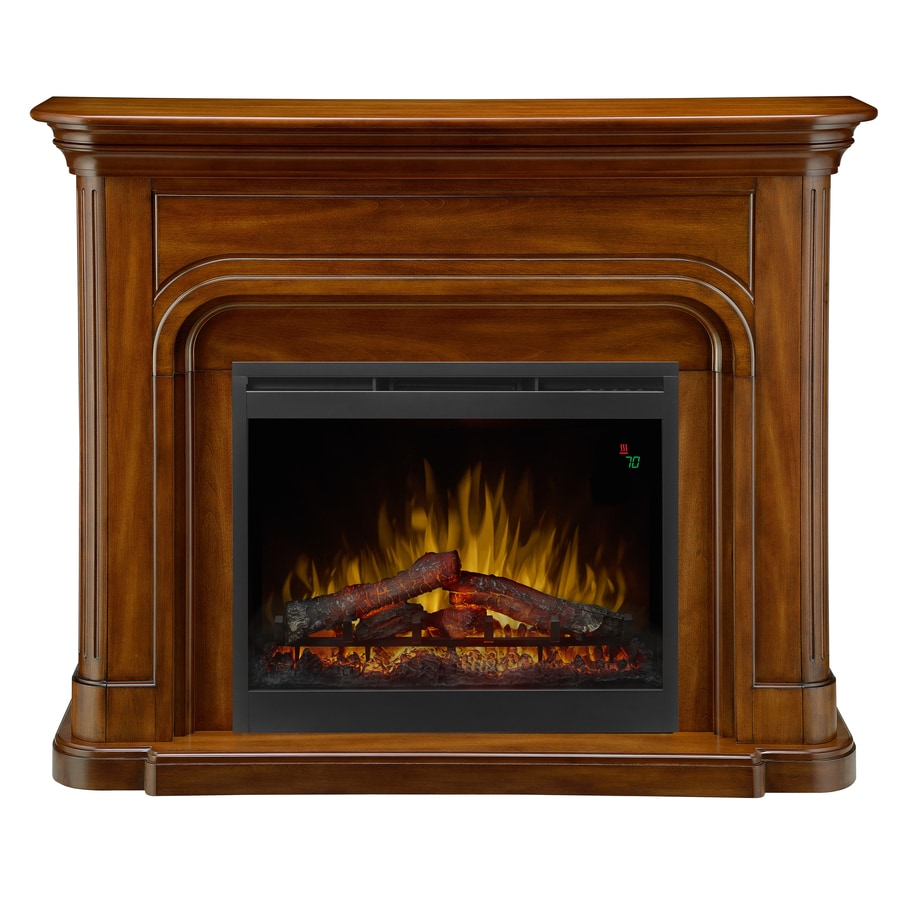 Dimplex 52.5-in W 4,777-BTU Burnished Walnut Wood Veneer Fan-Forced Electric Fireplace with Thermostat and Remote Control