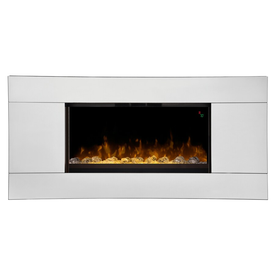 Shop Dimplex 40-in W 4,231-BTU Mirror Wood and Metal Wall-Mount Fan-Forced Electric Fireplace ...