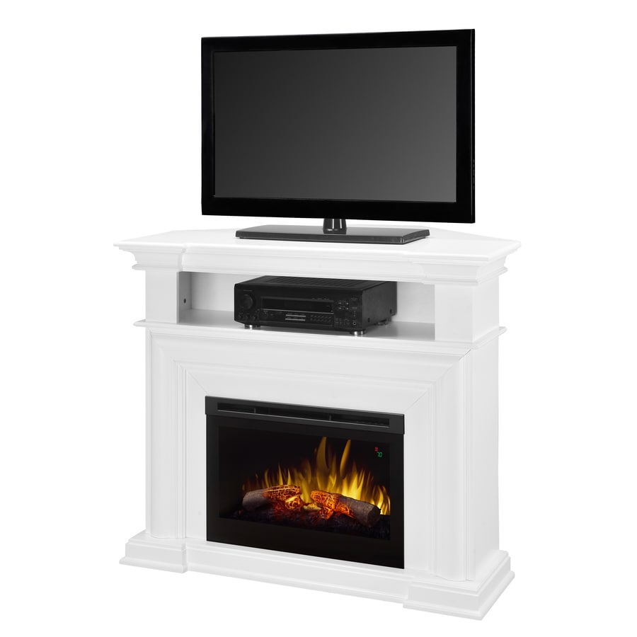 Shop Dimplex W 5 118 Btu White Wood Fan Forced Electric Fireplace With Thermostat And