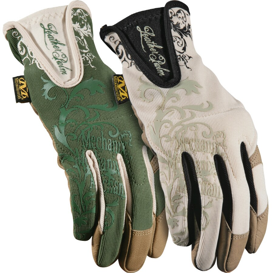 Leather work gloves lowes - Mechanix Wear Large Las Leather Garden Gloves At Lowes