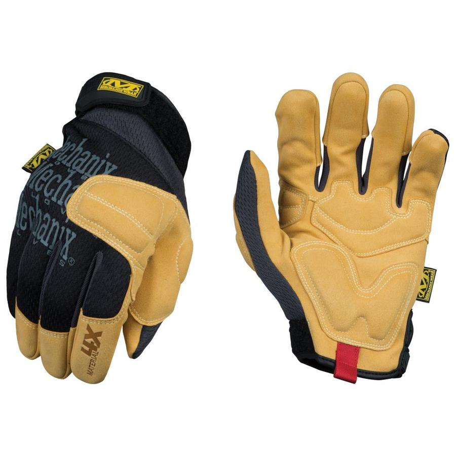MECHANIX WEAR Material4X Padded Palm Large Male Synthetic Leather Leather Palm High Performance Gloves