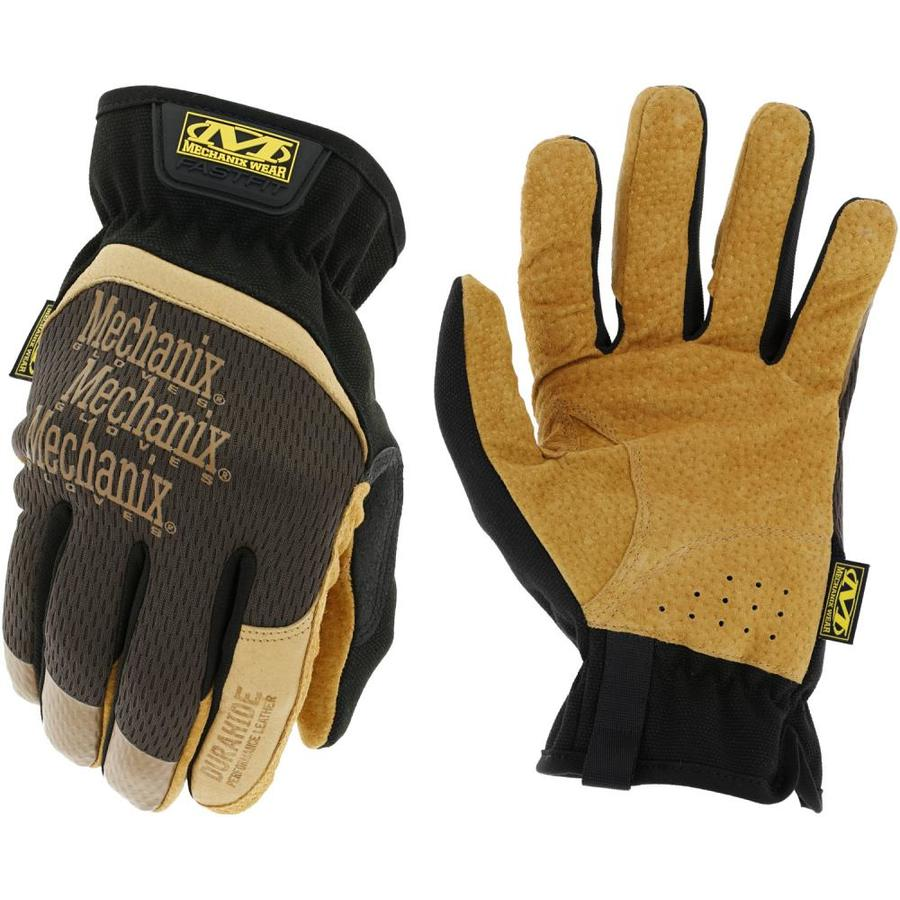 Black NEW Mechanix Wear M-Pact L Dura Hide Leather Men/'s Work Gloves 792197