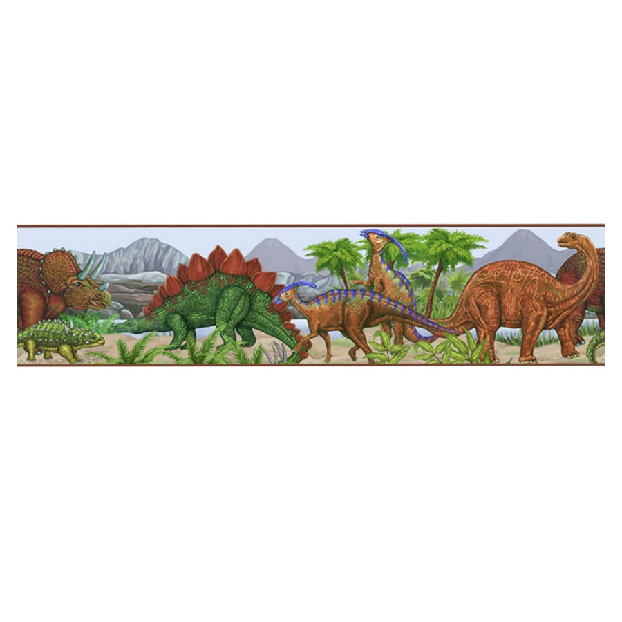 Shop Borders Unlimited Dinosaur Wallpaper Border At Lowes Com