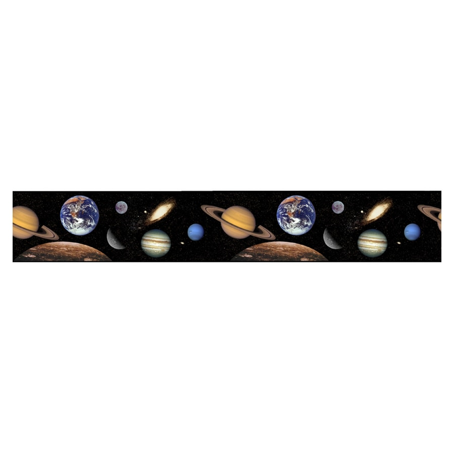 Shop Borders Unlimited Outer Space Wallpaper Border At Lowes Com