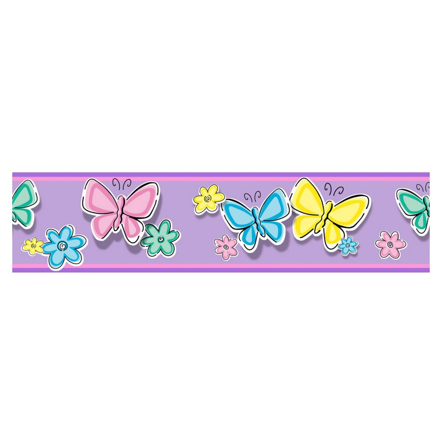 Shop Borders Unlimited Bedtime Butterfly Ii Wallpaper