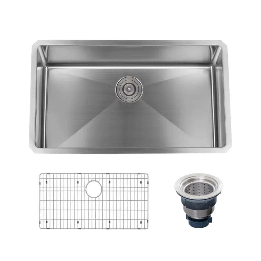 Industrial Residential Kitchen: Miseno 30-in X 18-in Stainless Steel Single-Basin