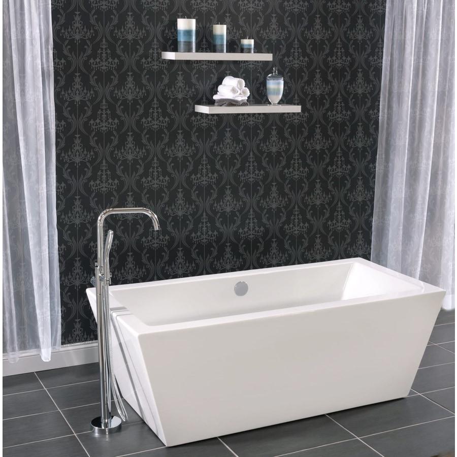 Shop Miseno 66.9375-in White Acrylic Rectangular Center Drain ...