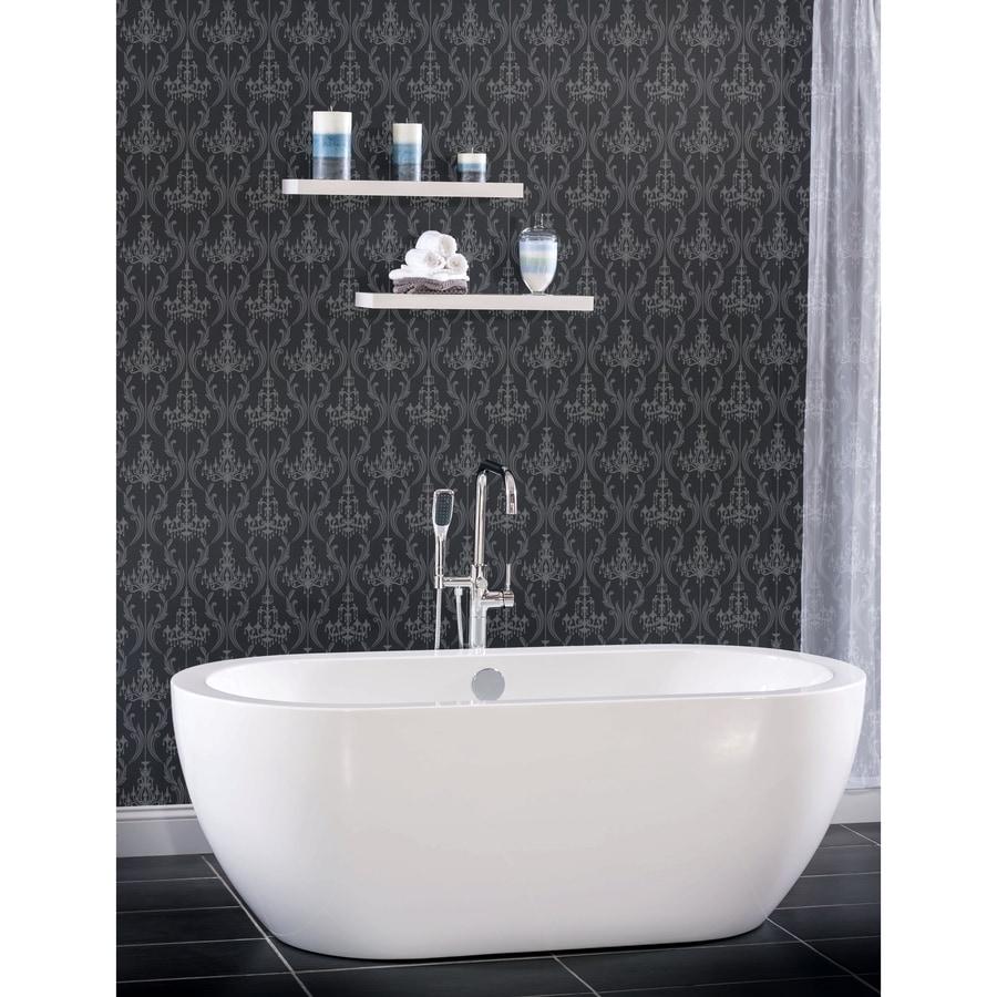 Shop Miseno 66.5625-in White Acrylic Oval Center Drain Freestanding ...