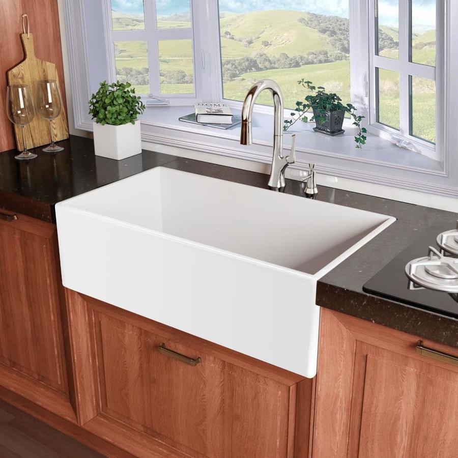 Shop Miseno 30 In X 18 In White Single Basin Standard Undermount