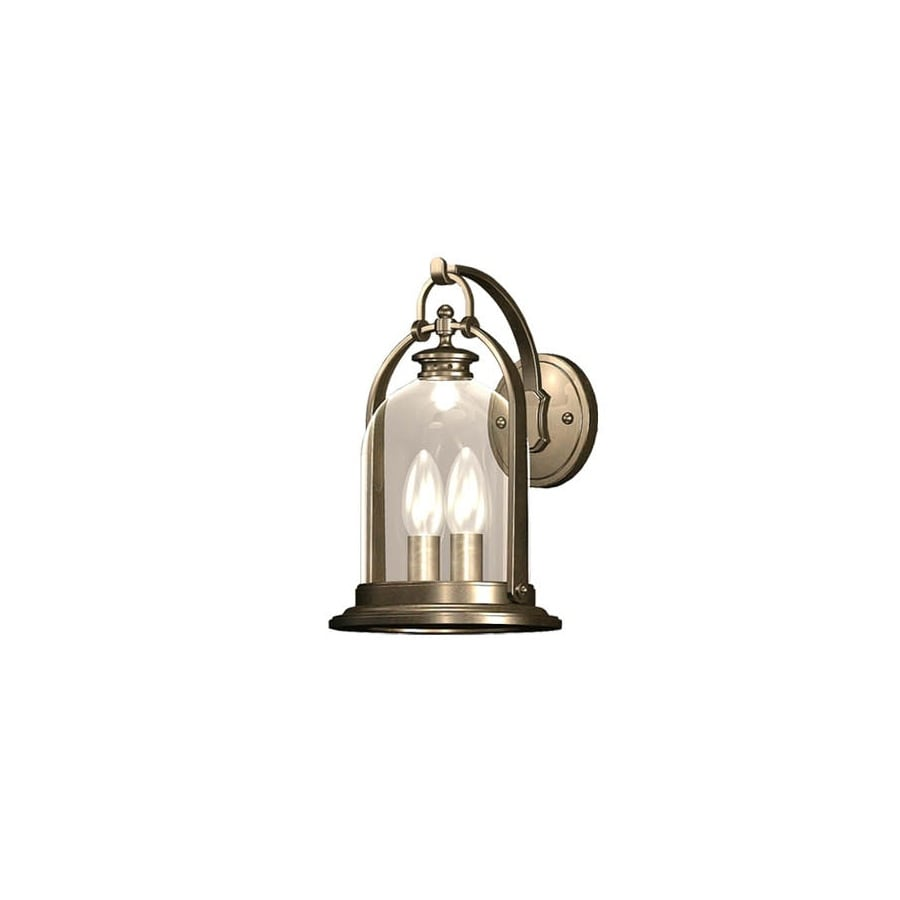 allen + roth North Haven 14.72-in H Bronze Outdoor Wall Light