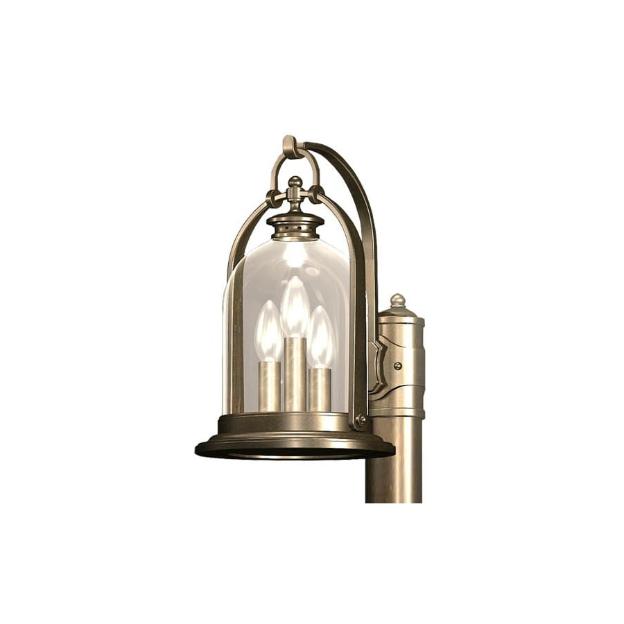 allen + roth North Haven 14.75-in H Bronze Outdoor Wall Light
