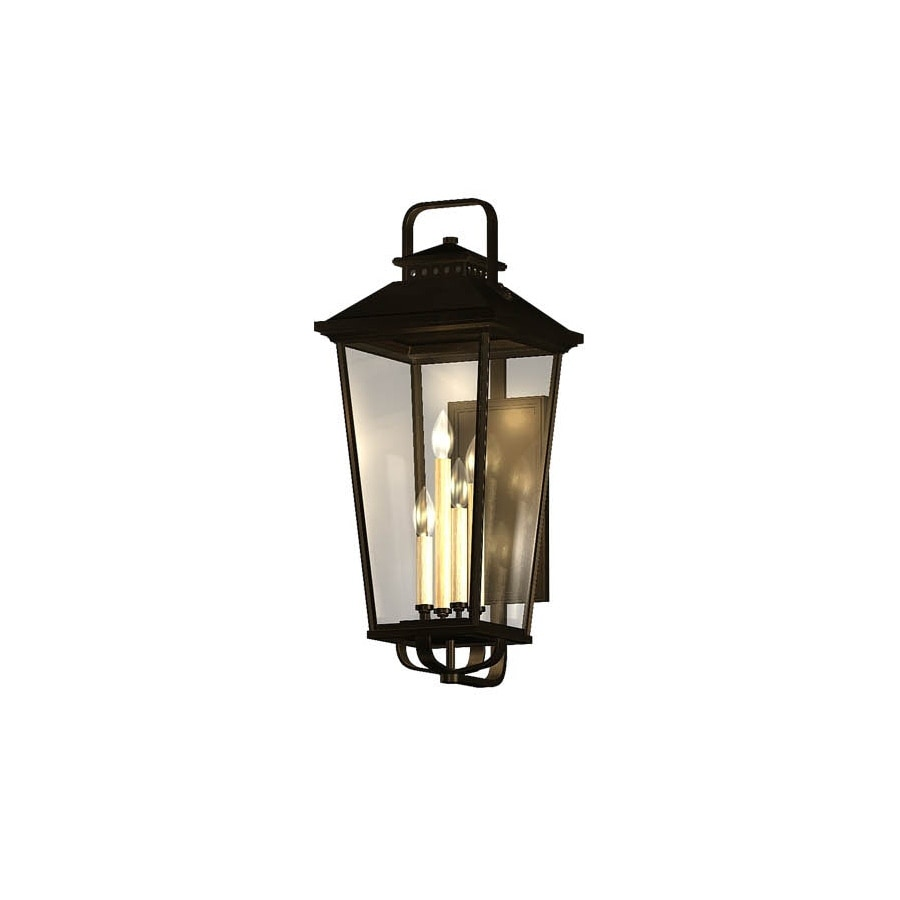 Shop allen + roth Parsons Field 22-in H Black Outdoor Wall Light at ...