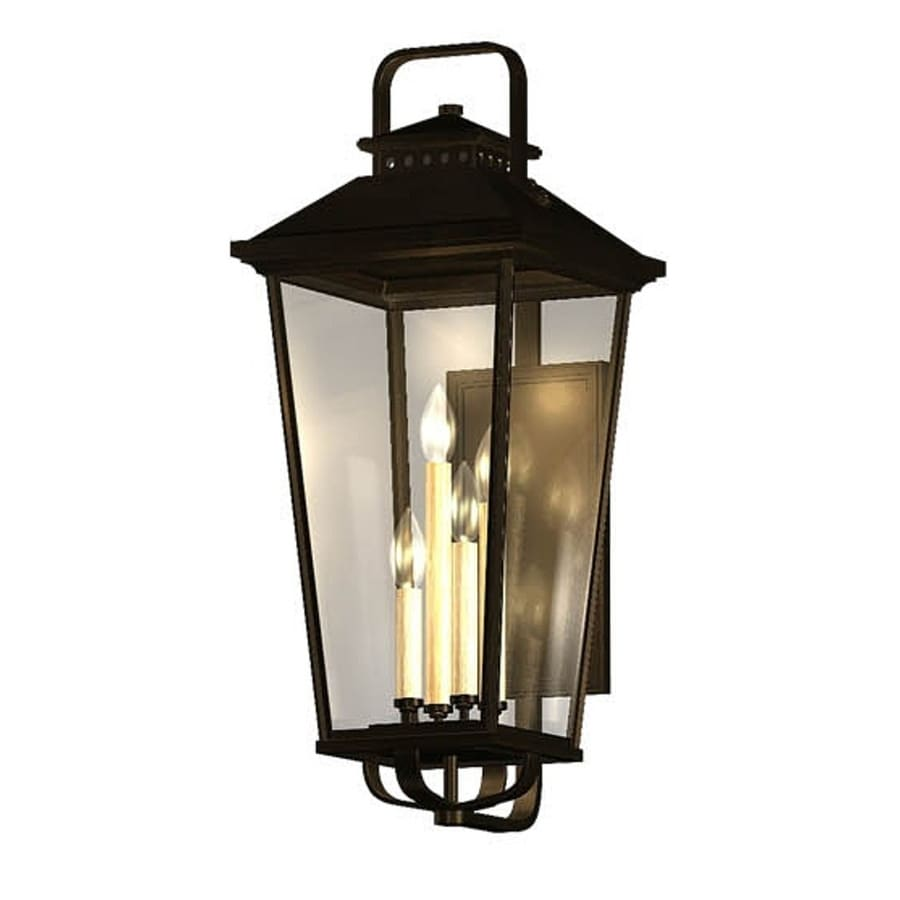 Shop allen + roth Parsons Field 27-in H Black Outdoor Wall Light ...