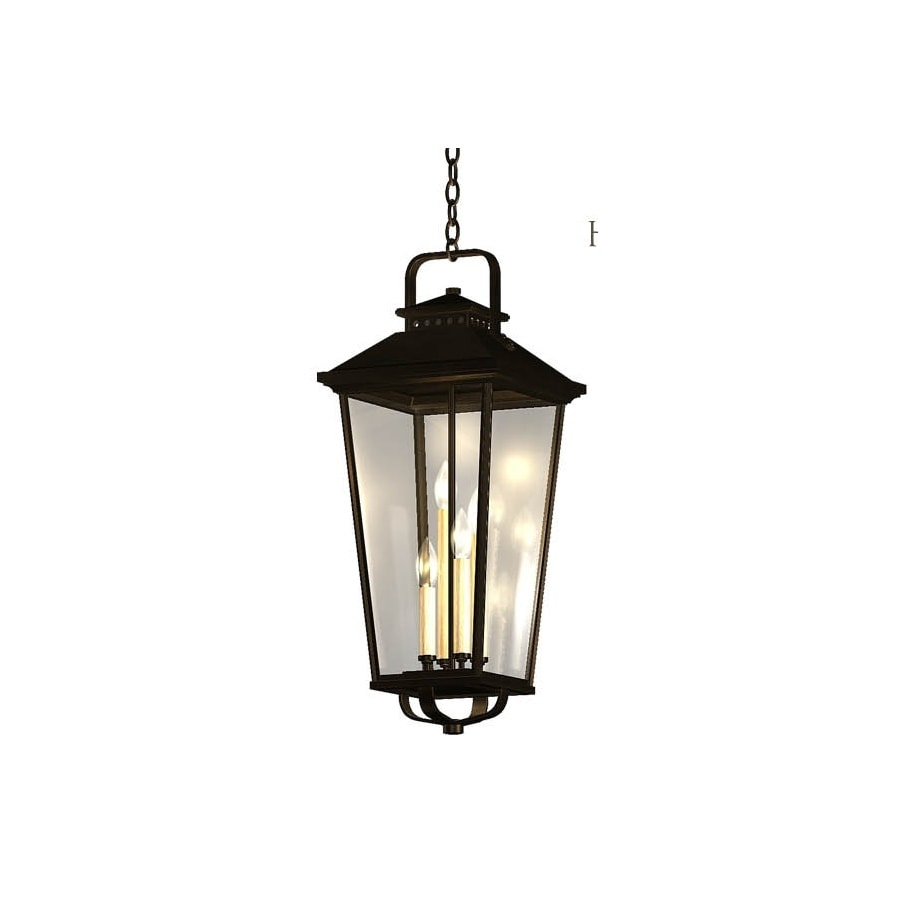 Shop allen roth parsons field 27 in black outdoor Allen and roth lighting