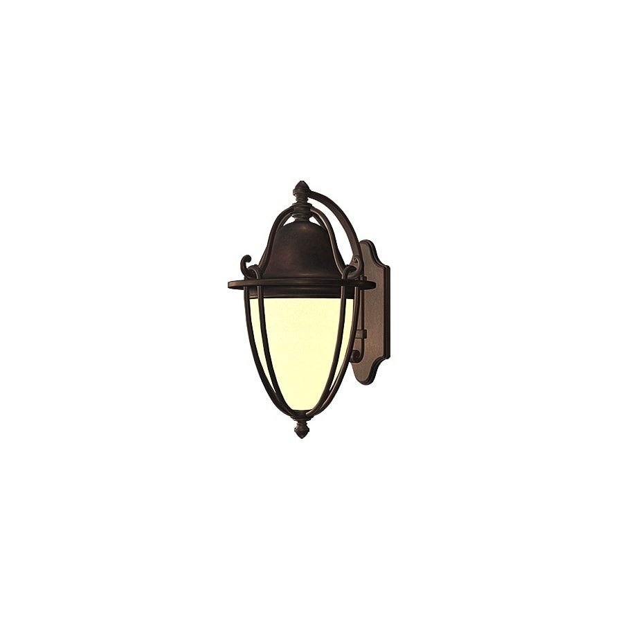 allen + roth Portage 11.75-in H Bronze Outdoor Wall Light