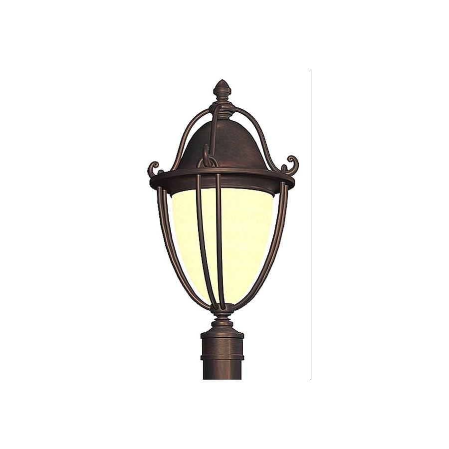 allen + roth Portage 22.5-in H Bronze Post Light