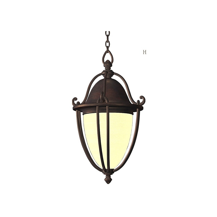 allen + roth Portage 21.3-in Bronze Outdoor Pendant Light