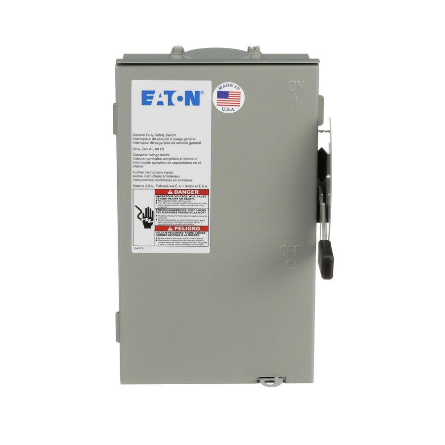 Eaton 30-Amp Non-Fusible Metallic Safety Switch