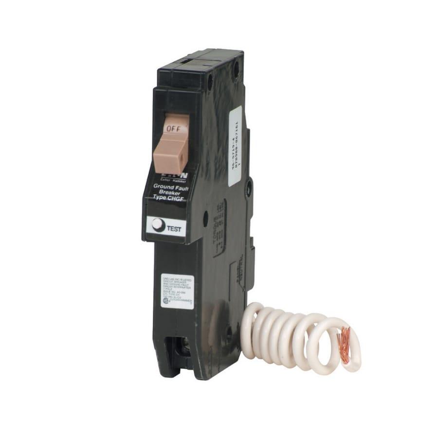 Eaton Type CH 15-Amp Ground Fault Circuit Breaker