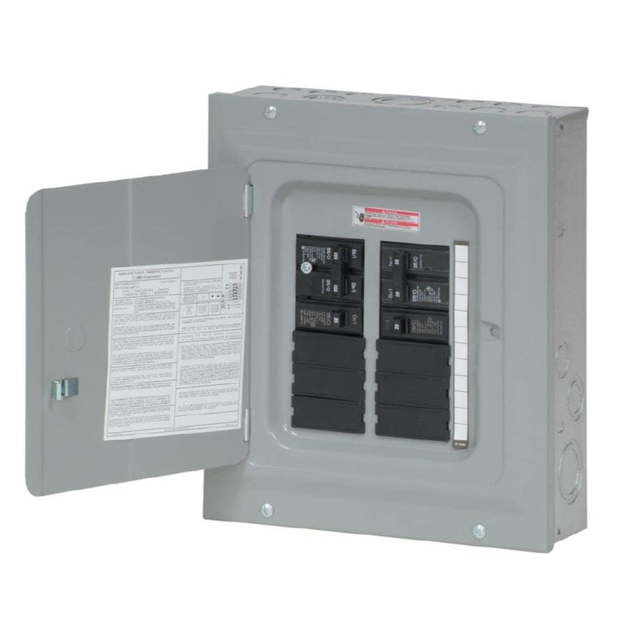 Cost Of Fuse Box To Circuit Breaker Box : Shop eaton circuit space amp main breaker load
