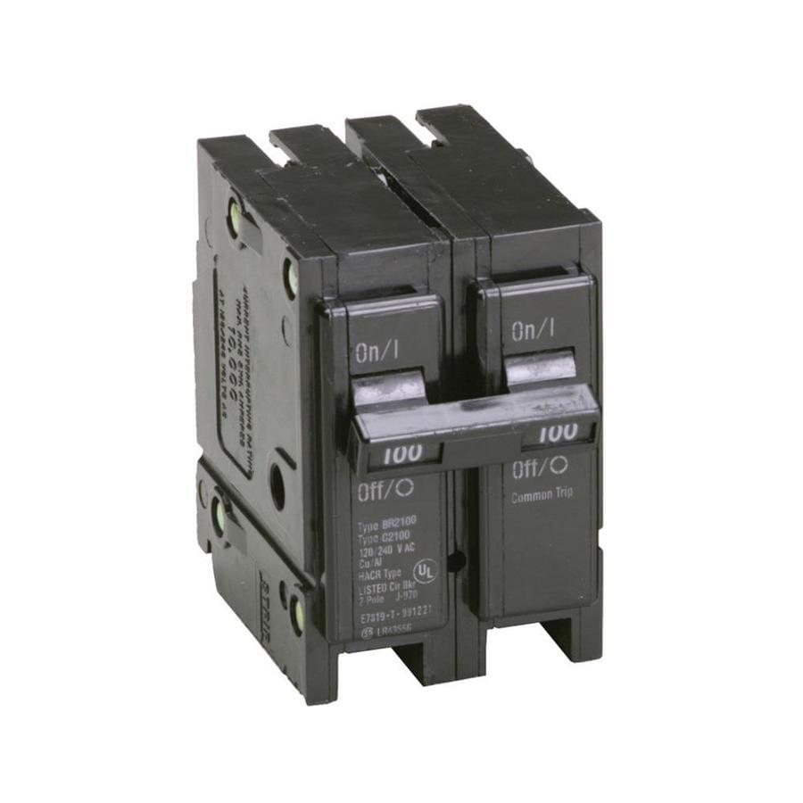 Eaton Type Br 100-Amp 2-Pole Standard Trip Circuit Breaker