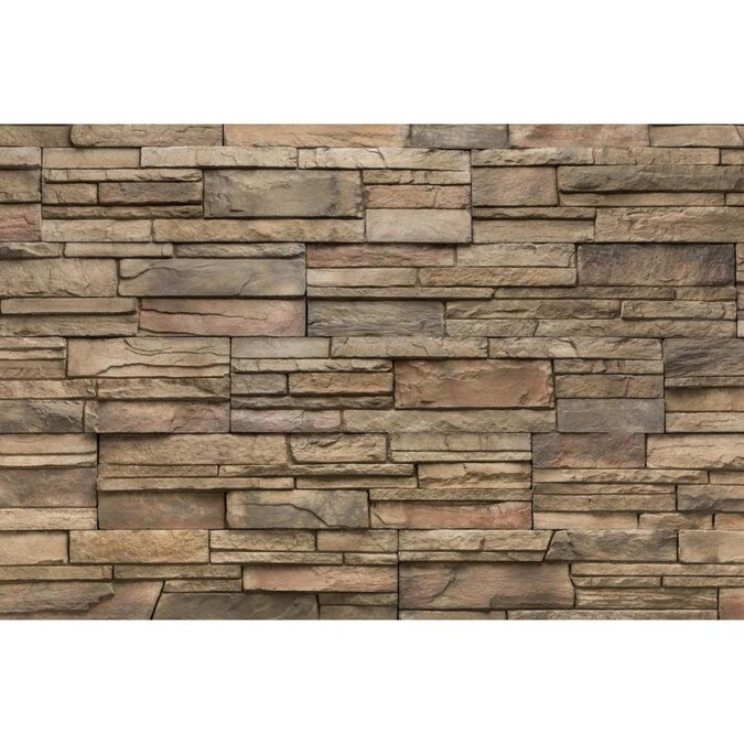 Versetta Stone Ledgestone 4 Sq Ft Terra Rosa Manufactured Stone Veneer In The Stone Veneer