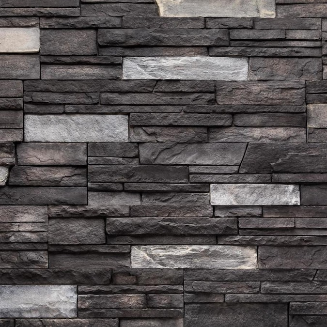 Versetta Stone Ledgestone 4 Sq Ft Graphite Manufactured Stone Veneer In The Stone Veneer