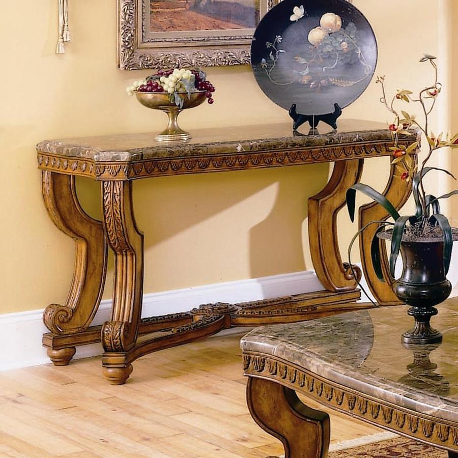 Homelegance Tarantula Marble Granite/Marble Venetian Sofa Table at ...