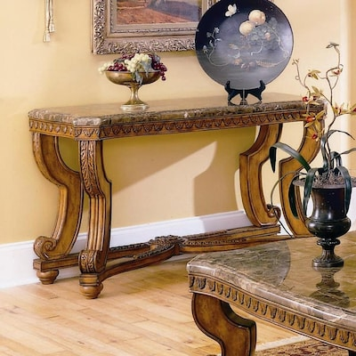 Wondrous Homelegance Tarantula Marble Venetian Sofa Table At Lowes Com Caraccident5 Cool Chair Designs And Ideas Caraccident5Info