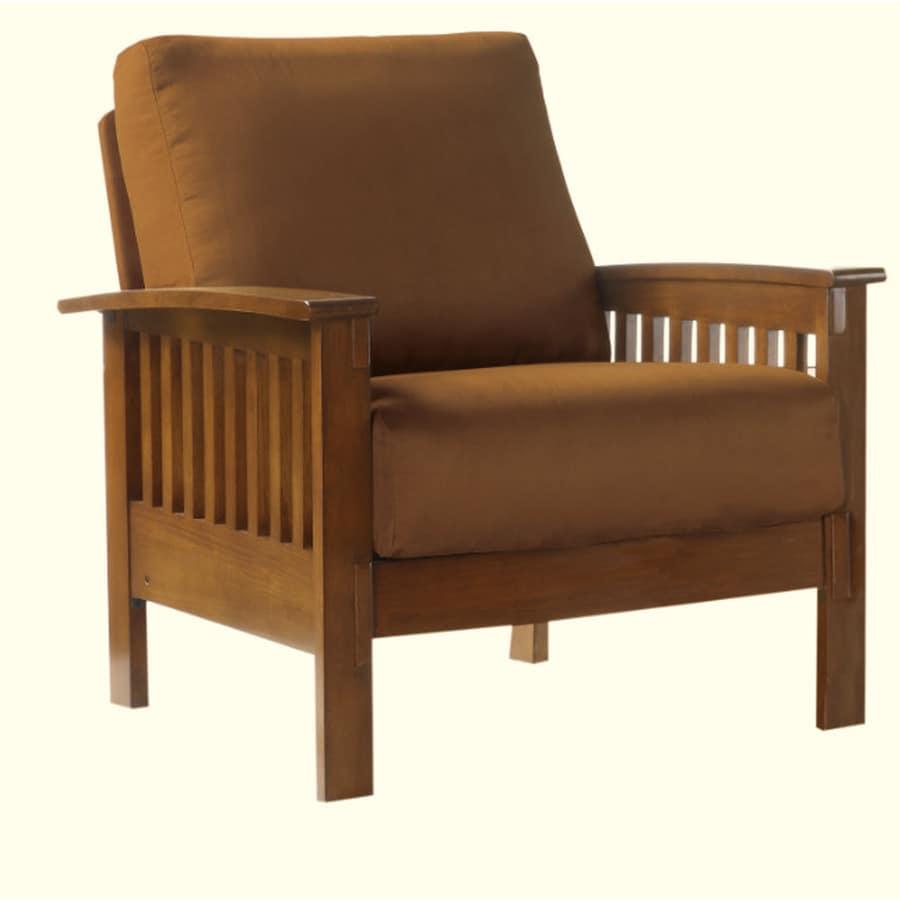 Shop Home Sonata Rustic Oak Microfiber Accent Chair At