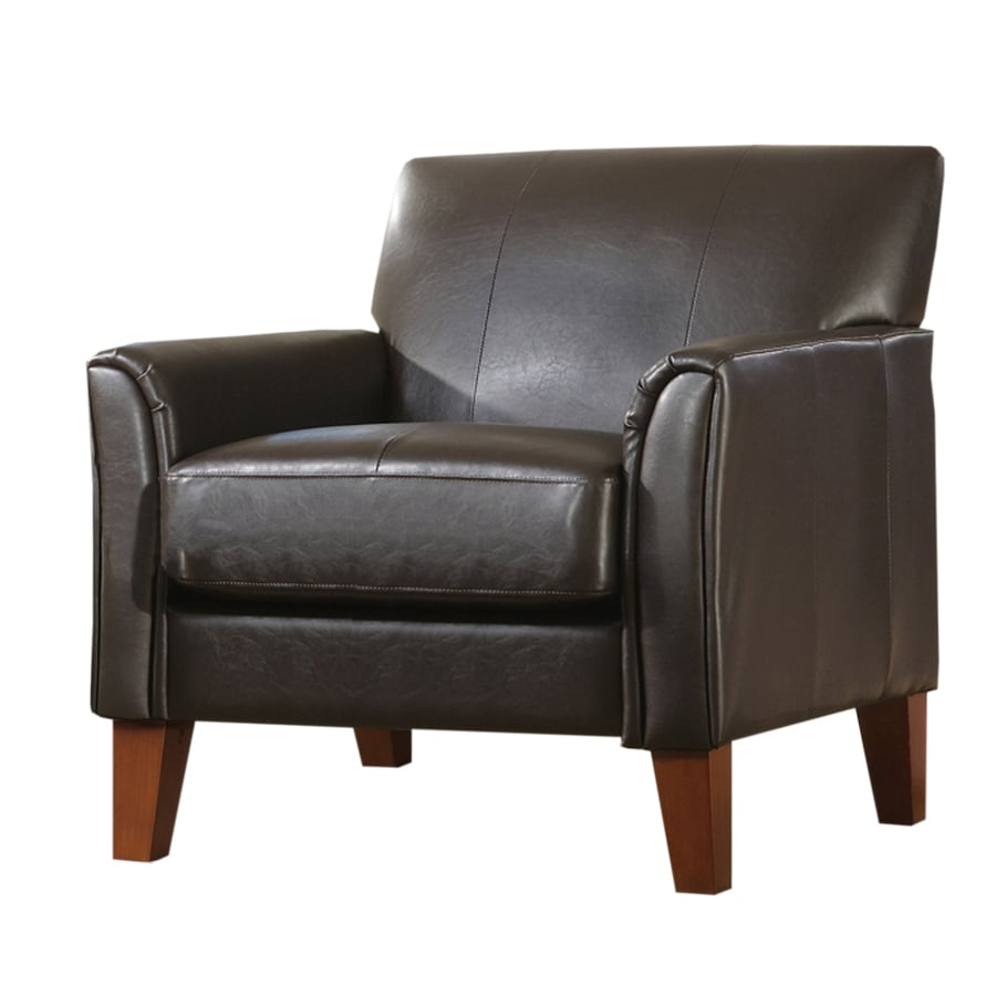 Home Sonata Mission/Shaker Cherry Faux Leather Accent Chair
