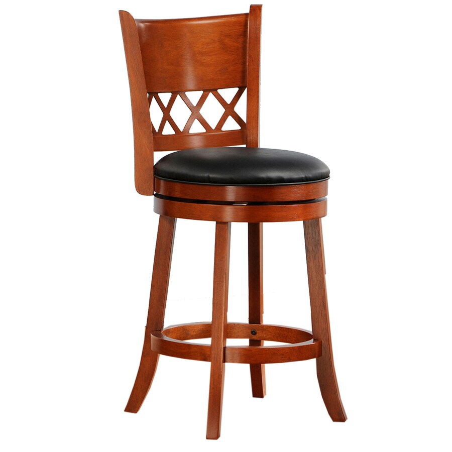 Home Sonata Red Oak 24-in Counter Stool
