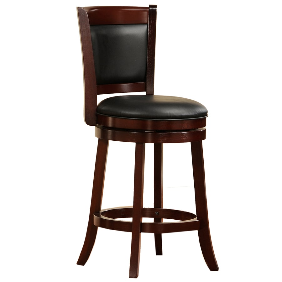 Home Sonata Set of 2 Modern Cherry Counter Stools