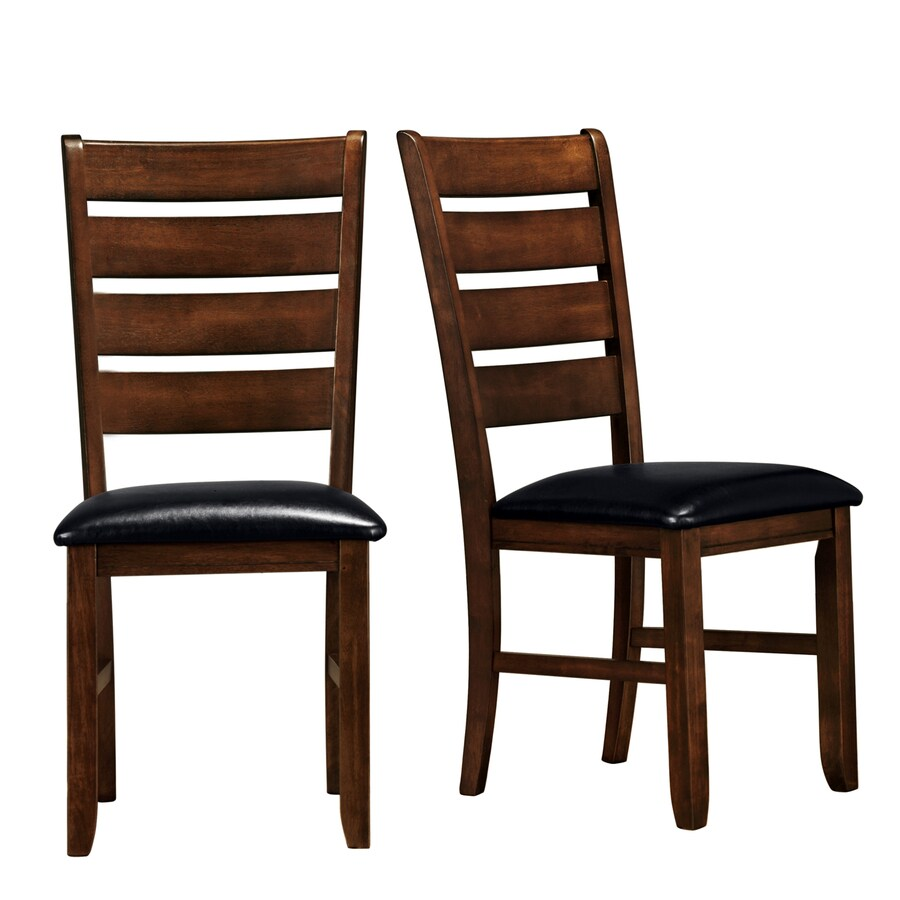 Home Sonata Set of 2 Contemporary Black Side Chairs