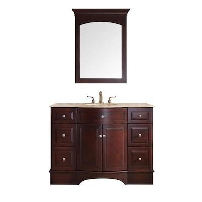 Super Stufurhome 48 In Dark Cherry Single Sink Bathroom Vanity Download Free Architecture Designs Ferenbritishbridgeorg