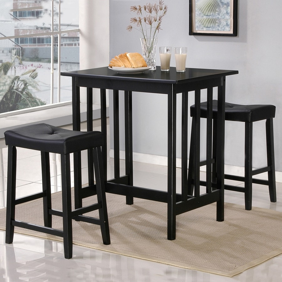 Home Sonata Black 3-Piece Dining Set
