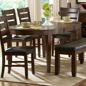 Homelegance Ameillia Dark Oak Composite Extending Dining Table