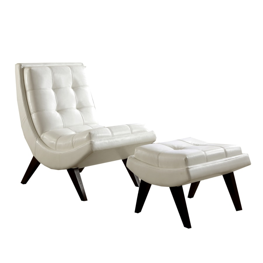 Home Sonata 2-Piece White Living Room Set