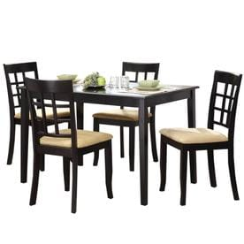 Shop dining sets at lowes 10 mountain woods furniture for Dining room tables lowes